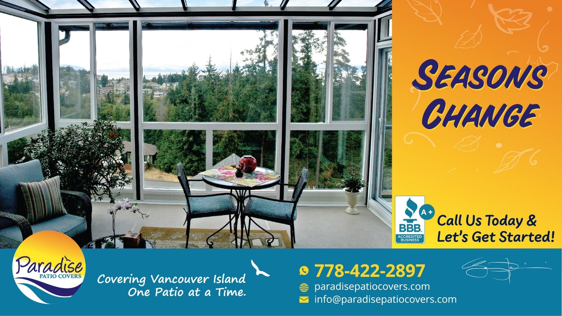 paradise patio covers - seasons change